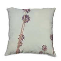 Streets of L.A. -  Pillow Cover -  Los Angeles, California, Cali, Socal, Palm, Trees, Beach, Mint, Green, Apartment, Dorm, 18x 18, 22 x 22,