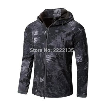 Tactical Soft Shell Jackets Snake Camouflage Army Jacket Men Military Shark V4.5 Waterproof Outdoor  Camo Hiking Hunting Clothes