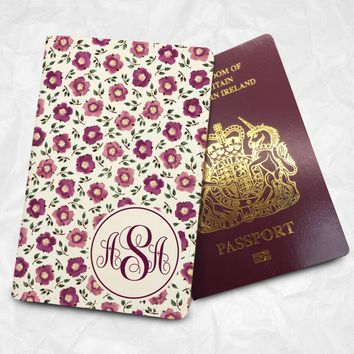 Rose's Personalised Custom Name Passport Cover Passport Holder with FREE Name Printing (BBS005)