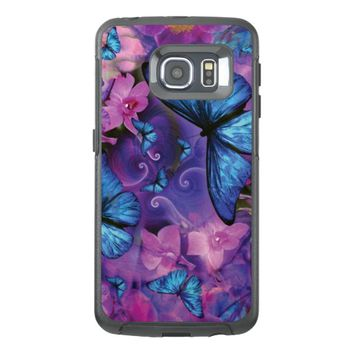 awesome blue butterflies OtterBox iPhone 6/6s case
