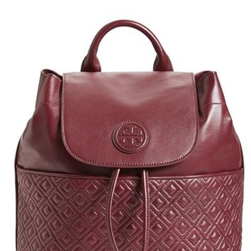 Tory Burch 'Marion' Quilted Lambskin Backpack