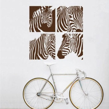 Zebra Wall Decal-Zebra Wall Vinyl-Zebra house Decor and Zebra Home decor