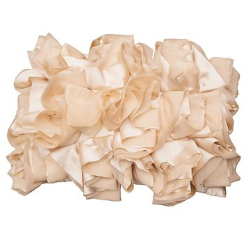 The Peach Ruffled Pillow