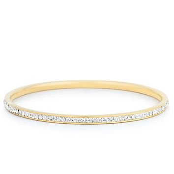 Katlynn 18k Gold CZ Bangle Bracelet