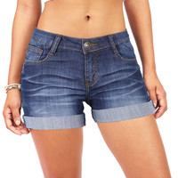 High Tide Cuffed Denim Shorts