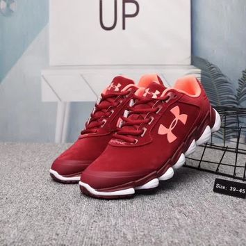 under armour unisex casual fashion pig leather sneakers couple running shoes-1