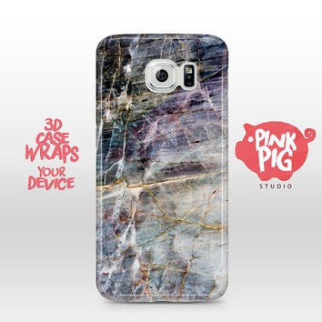 Marble Stone like Natural Gray Violet Look Case Cover for Samsung Galaxy S3 mini S4 mini S5, S6, S6 Edge + A3 5 Grand Note 2 3 4 5