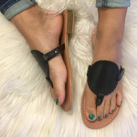 Spring Vacation Sandal - Black