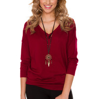 Mila Sweater - Burgundy