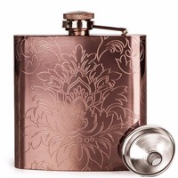 Etched Rose Gold Flask