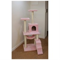"New Pink 57"" Cat Tree Condo Furniture Scratch Post Pet House"