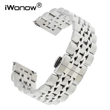 18mm 20mm 22mm Quick Release Stainless Steel Watchband for Omega Tissot Longines Mido Hamilton Watch Band Wrist Strap Bracelet
