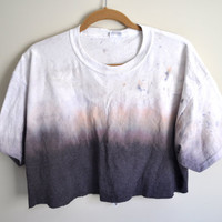 sunset ombre crop top