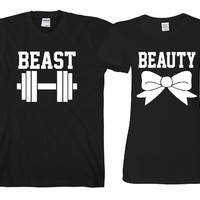 "Beauty Beast ""Cute Couples Matching T-shirts"""