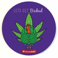 TURKEY LETS GET BAKED DAB MAT