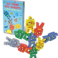 Vilac Tower Stacking Toy, Robots