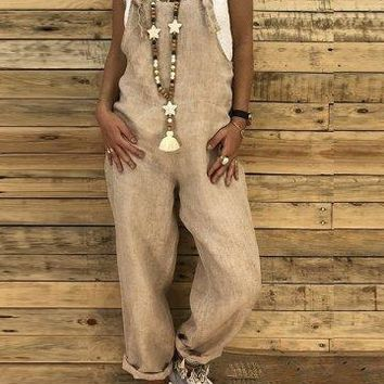 Linen Dungarees - 2 Colors