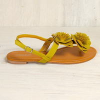 Sassafras Sandals in Mustard - $24.99 : Spotted Moth, Chic and sweet clothing and accessories for women