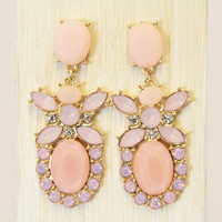 Baby Pink Tulip Earrings