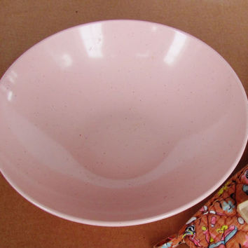 Vintage Pink Melmac Serving Bowl Debonaire Speckled Melamine 1960s Dinnerware Glamping Dishes Cottage Chic Casual Dinner Ware Pink Kitchen