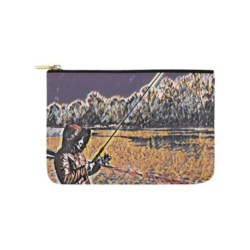Levi Thang Fishing Design 3 Carry-All Pouch 9.5''x6''
