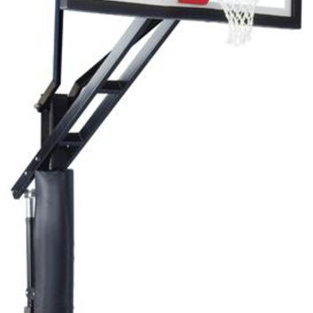 Ironclad Sports Full Court XL In Ground Outdoor Adjustable Basketball Hoop 60 inch Tempered Glass