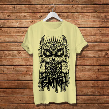 "Owl Bring Me The Horizon T-Shirt, Owl BMTH Rock Band Women T-Shirt (Size Print 10""x12"" - Available Various Color)"
