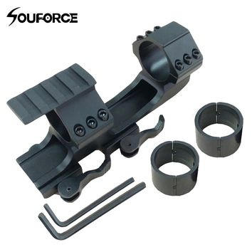 """Quick Release Scope Mount 1""""/30mm Dual Ring Tactical Cantilever Heavy Duty Rail 20mm Picatinny Rail Extended for Air Gun Hunting"""