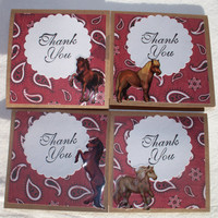 Western Horse Mini Cards Set of 8