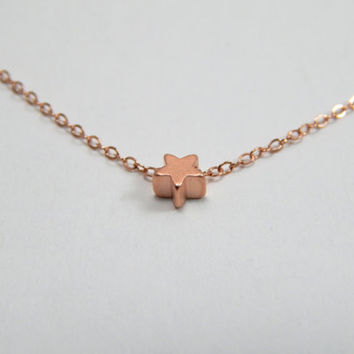 Star necklace, tiny star necklace, rose gold star necklace, small star necklace, sexy star necklace, minimalist star necklace, gift necklace