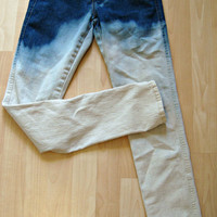 Ombre Jeans Bleached Denim Jeans Custom Any Size