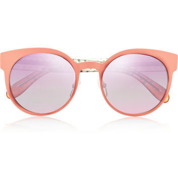 Marc by Marc Jacobs - Round-frame metal and acetate mirrored sunglasses