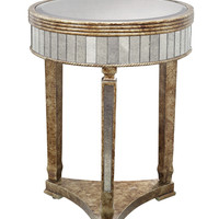 Elevon Gold Finish Round Table