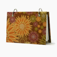Autumn flowers index card binder, recipe holder, daily journal, index card holder with a set of index card dividers
