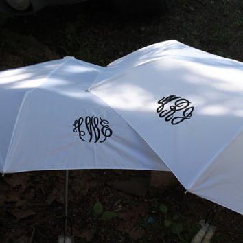 Monogrammed Personalized 3 Initial, Name,  Wedding Umbrella