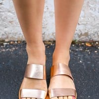 Storyteller Sandals - Rose Gold
