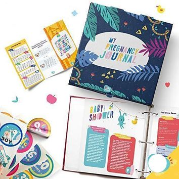 Weekly Pregnancy Journal with 40 Milestone Stickers and Keepsake Box
