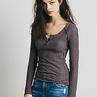Free People Womens Rag Tag Henley