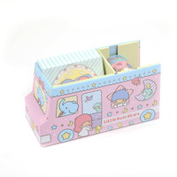 Little Twin Stars Paper Tape and Memo Set: Pink Bus