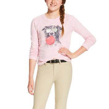 Ariat Girl's Bubblegum Graphic Tee - Blossom