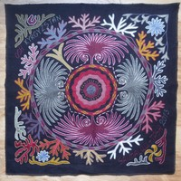 Hand-embroidered panel