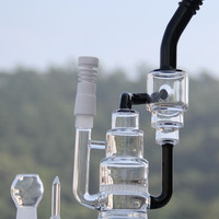 Water pipes Glass Bong with honeycomb Glass oil rigs bear mteountain recycler Glass 18.8mm joint glass nail dome and ceramic domeless nail
