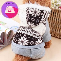 Casual Dog Coat Jacket Winter  Dog's Clothes Hoody Cotton-padded Clothes Coral Poodle Pet Costume Dogs  Clothing For dogs M-2XL