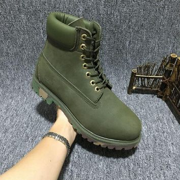 Timberland Rhubarb Boots 10061 Camouflage For Women Men Shoes Waterproof Martin Boots