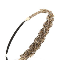 FOREVER 21 Braided Chain Headband Antic Gold One