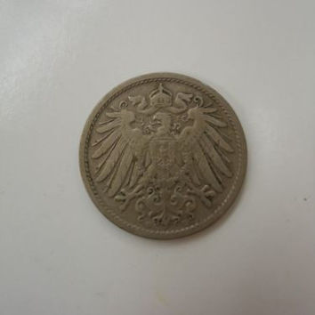 Rare 1902-D German Empire Reich 10 Pfennig Germany COIN Antique Reichs Pfennig