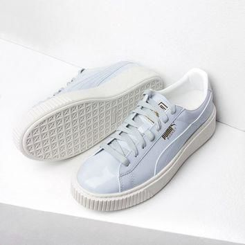 Puma Patent Creeper Sneakers in Blue
