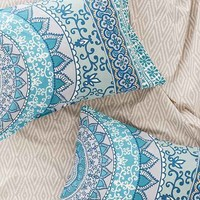 Plum & Bow Katara Medallion Sham Set- Turquoise One