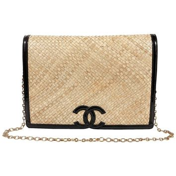 Chanel Raffia Woven Flap Bag by Amen Wardy