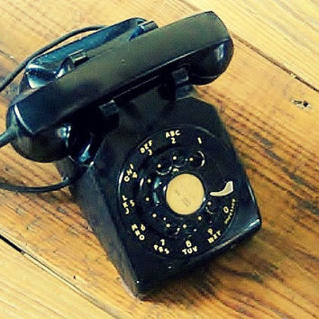 1954 Black Rotary Western Electric Collectible Telephone, All Matching Numbers